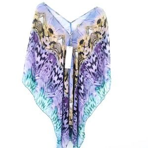 NWT Elan Beach Sheer Swimsuit Coverup Colorful